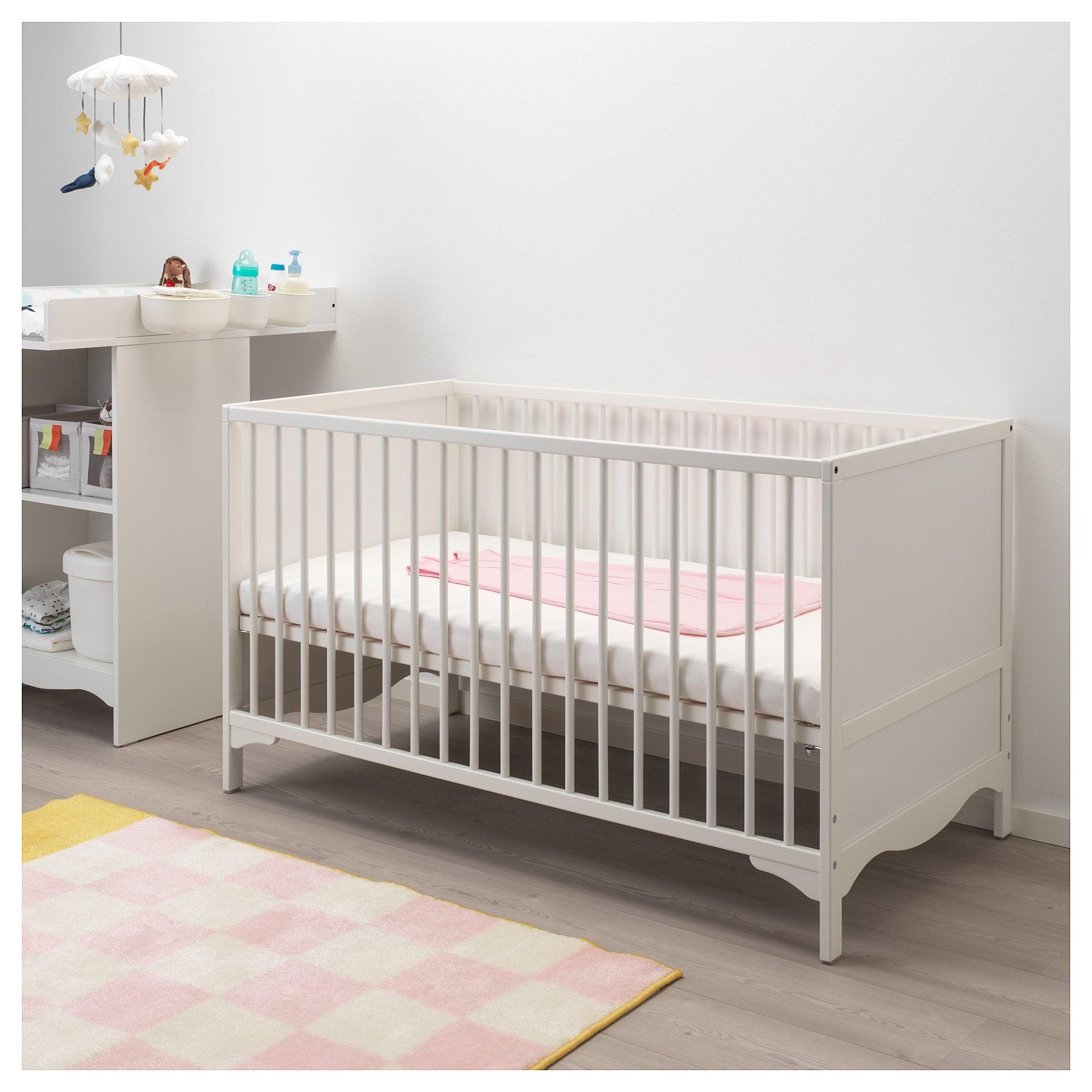IKEA SOLGUL Crib white Cribs, Ikea cot, Ikea toddler bed