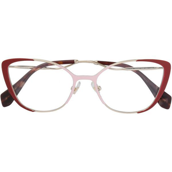 Miu Miu Eyewear curved cat-eye glasses Free Shipping Amazing Price lf3aUD