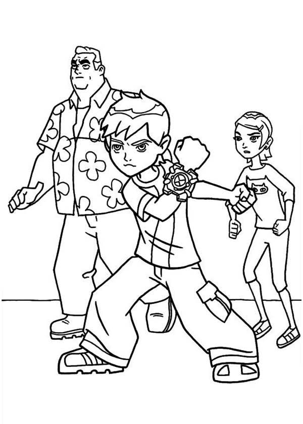 Young Ben Granpa Max And Gwen In Ben 10 Coloring Page Download Print Online Coloring Pages For Free Coloring Books Coloring Pages Cartoon Coloring Pages