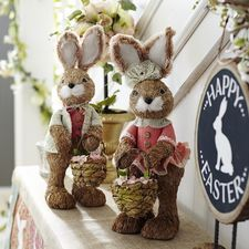 Standing Bunnies with Baskets