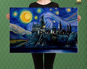 Nuit Ciel Paysage Peinture Tente Sous Les Etoiles Photo Print
