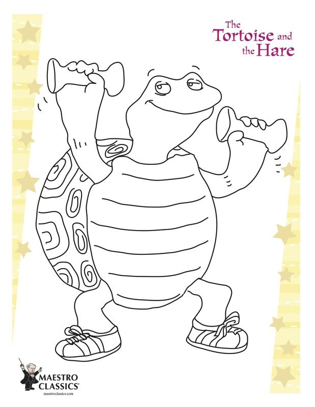 Free printable coloring page from The Tortoise and the Hare | The ...