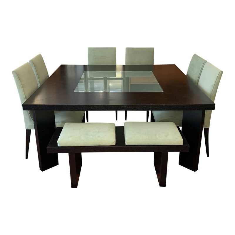 Creative Elegance Dining Table Chairs Bench Set Dining Table
