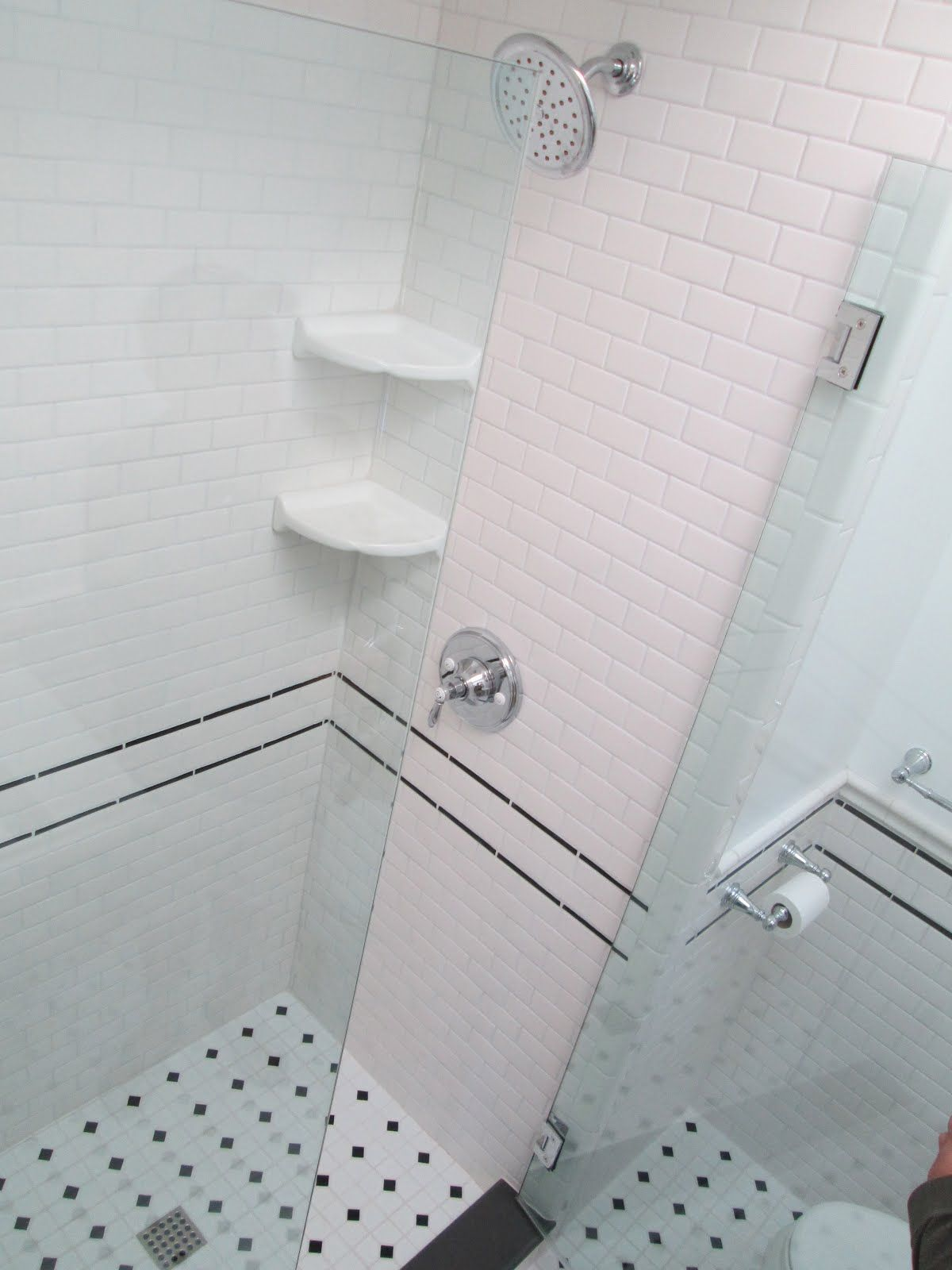 Pink And Black Tile Bathroom | ... General Contractor: Vintage ...