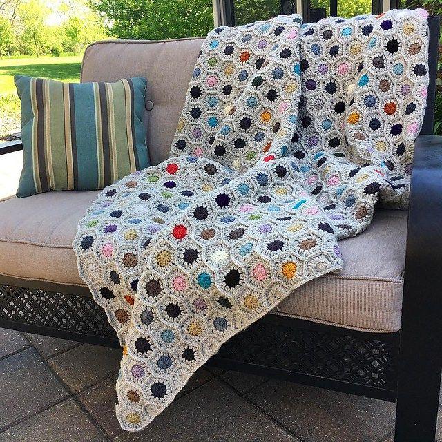 Ganxet Vànoves, afgans Little Dotsc rochet Blanket