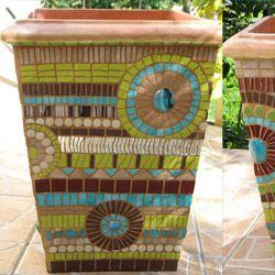 jarre mosaïque | Mosaics | Pinterest | Mosaique, Pots et Création ...