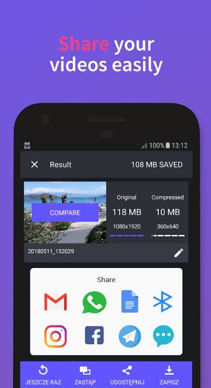 compress android video