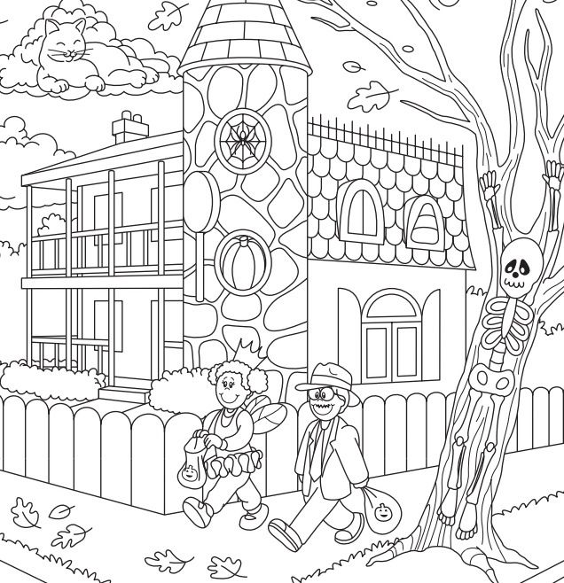 halloween coloring pages and puzzles - photo#36