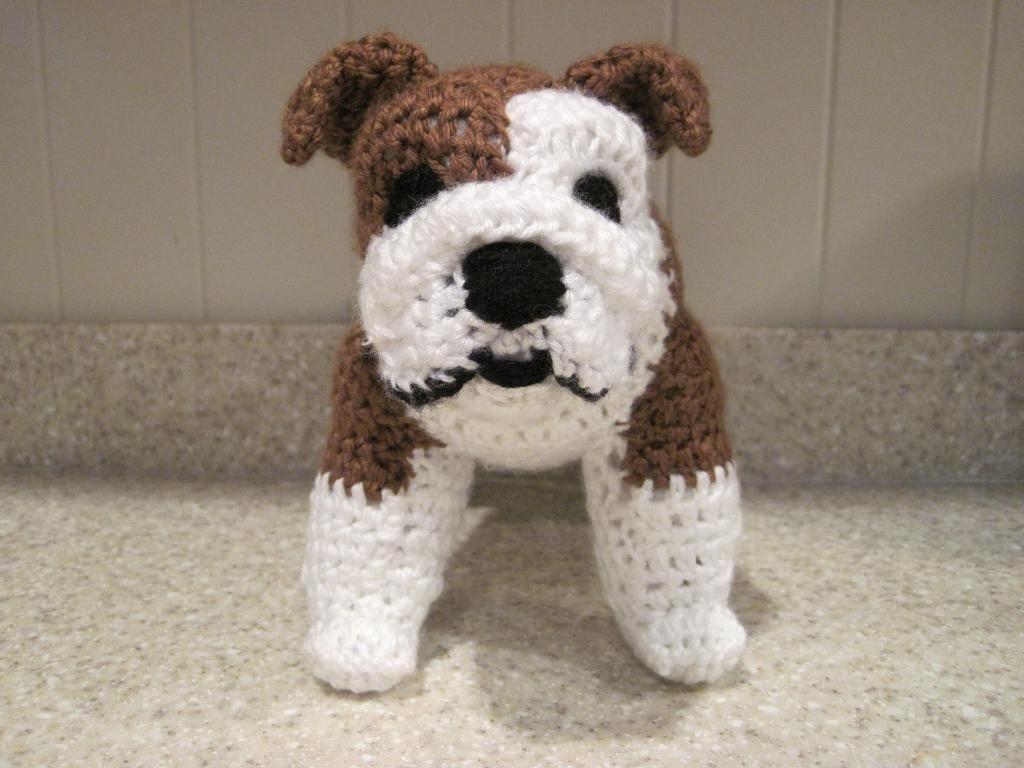 Amigurumi Lion Perritos : Crocheted bulldog pdf pattern dog crochet pdf and crochet