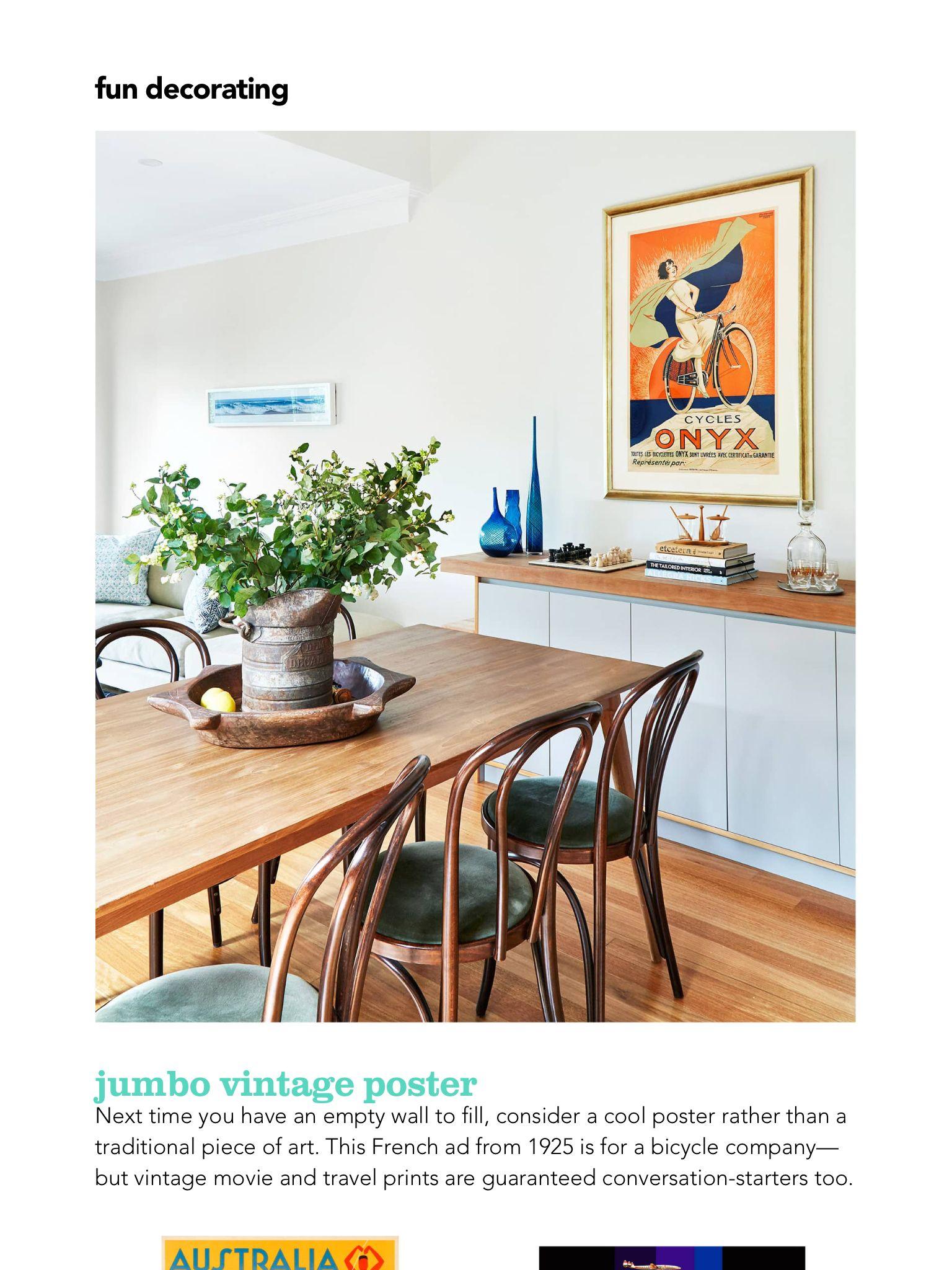 Talk of the room: jumbo vintage poster\