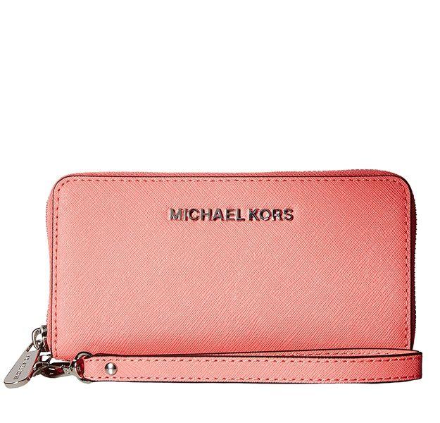 b0f6921744 Značky - Peněženka Michael Kors Jet Set Travel Large Smartphone korálová  3.690 Kč