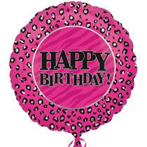 Bulk Pink Happy Birthday Leopard Print Foil Balloons 18 At DollarTree