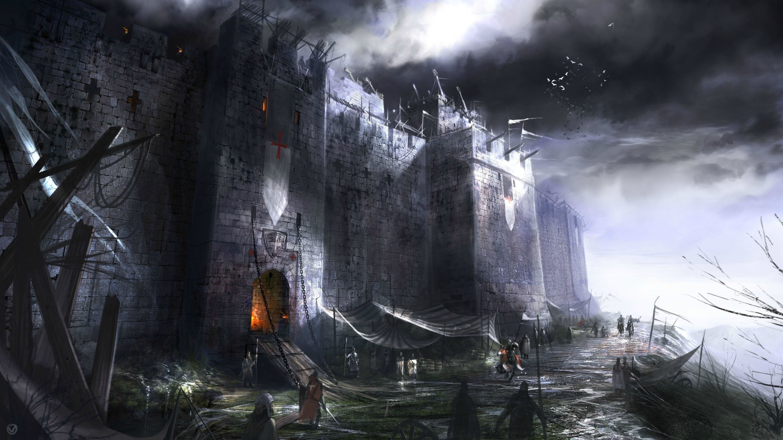 Medieval Hd Wallpaper Castle Art Medieval Paintings Fantasy Castle