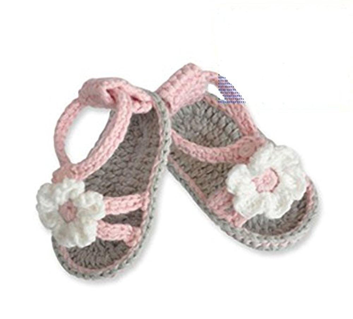 Knitted baby shoes soft bottom baby sandals 10cm(3 6months baby
