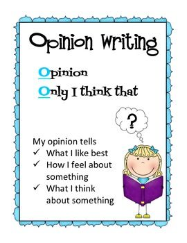 How to write an opinion essay for kids