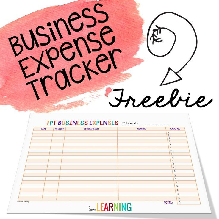 Free business expense tracking sheet for TeachersPayTeachers authors - spreadsheet for monthly expenses