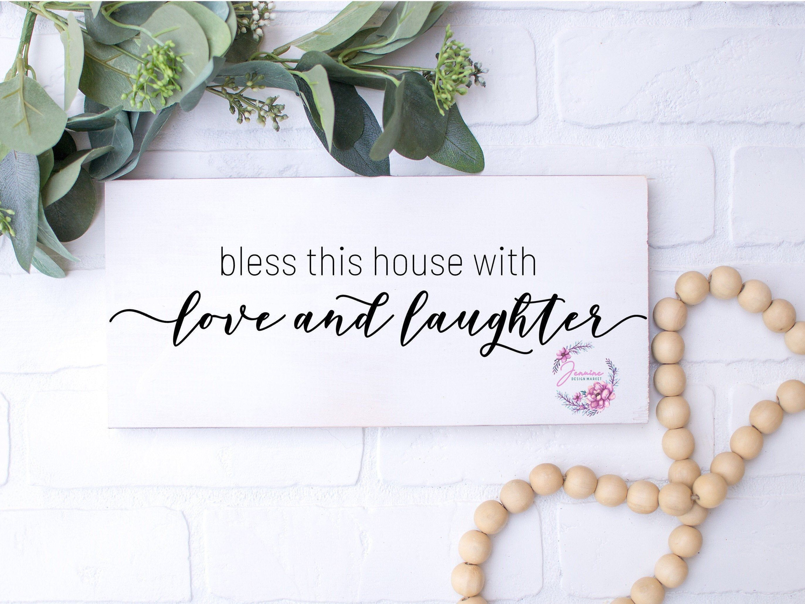 Download Bless This House With Love And Laughter SVG Bless This ...