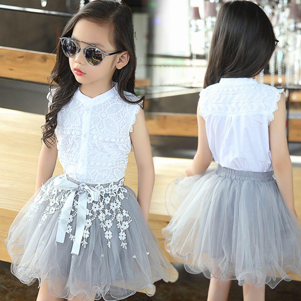 Girl S Fashion Summer Clothing Set Girls Dresses Summer Girls Dresses Kids Dress [ 1000 x 1000 Pixel ]