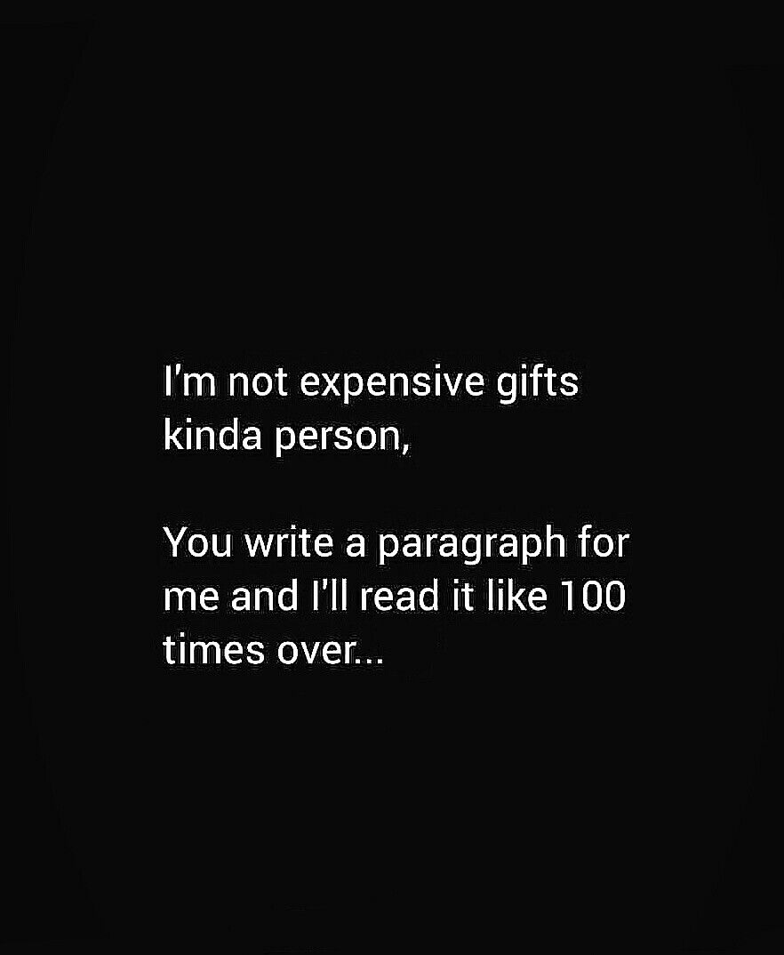 I'm not expensive gifts kinda person