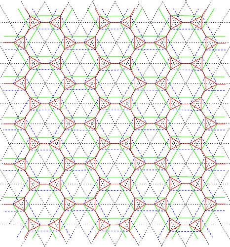 Tiled Hex Origami Tessellation Crease Pattern  Origami Origami