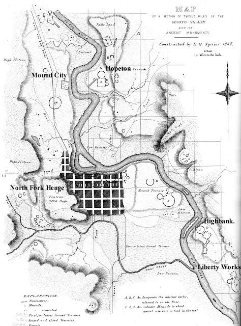 Geometric Adena Hopewell Earthworks Around Chillicothe Ohio Ross