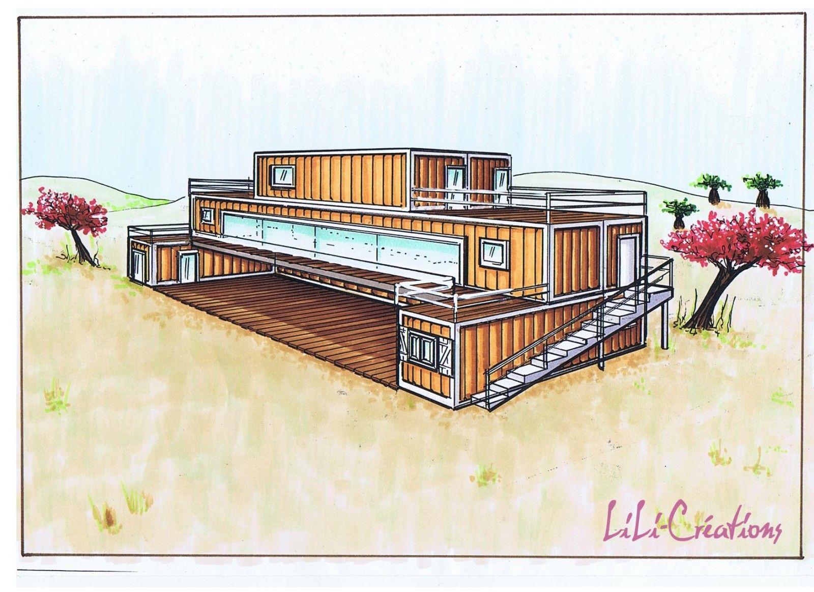 1000 images about maisons containers on pinterest shipping container pool house and shipping containers - Plan Maison Conteneur