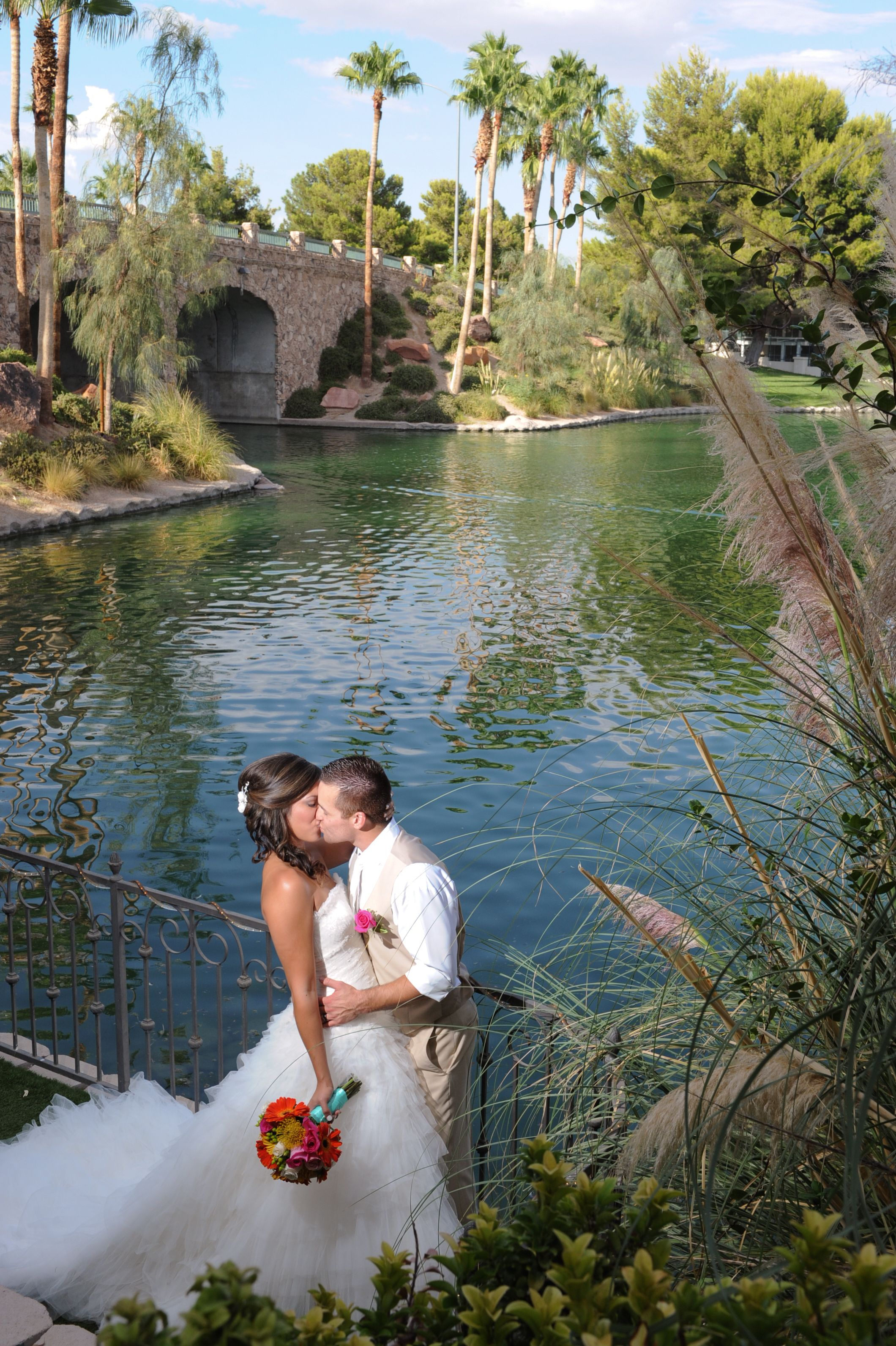 Lakeside weddings events outdoor las vegas wedding