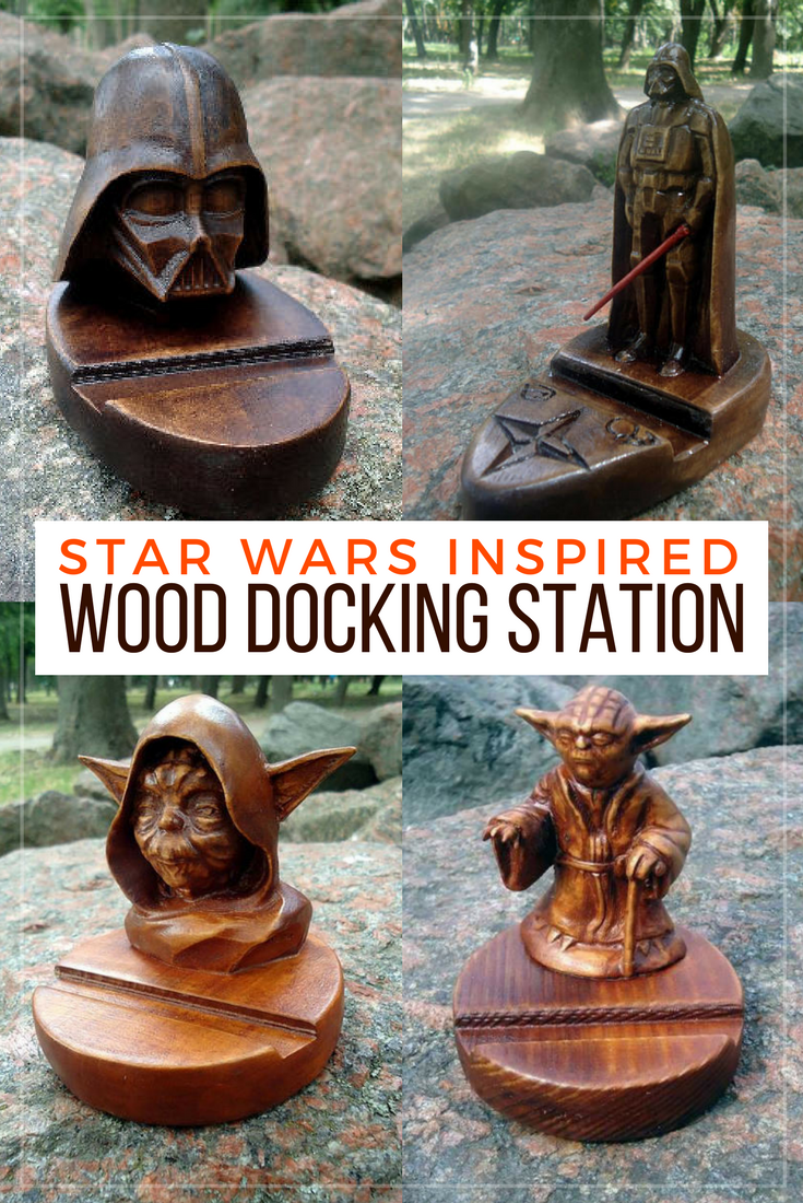Cool Star Wars inspired Darth Vader and Yoda docking stations