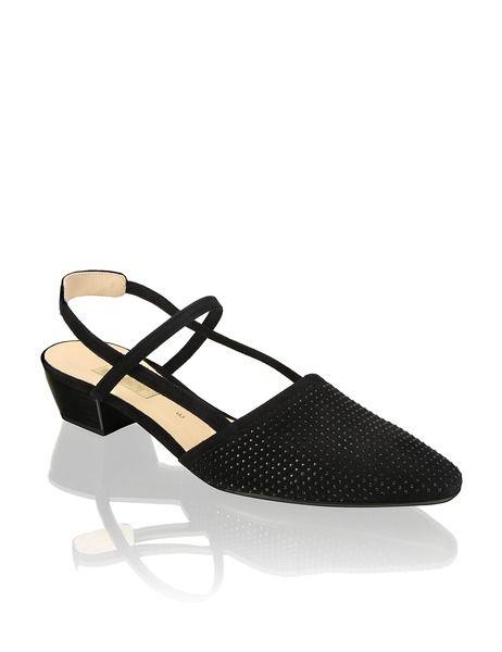 online retailer 41812 acb21 Gabor Veloursleder-Sling | blau | humanic.net | Schuhe ...