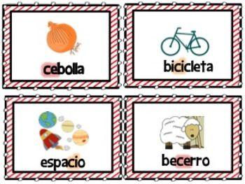 Ortografía: Lotería con palabras Ce y Ci Learning