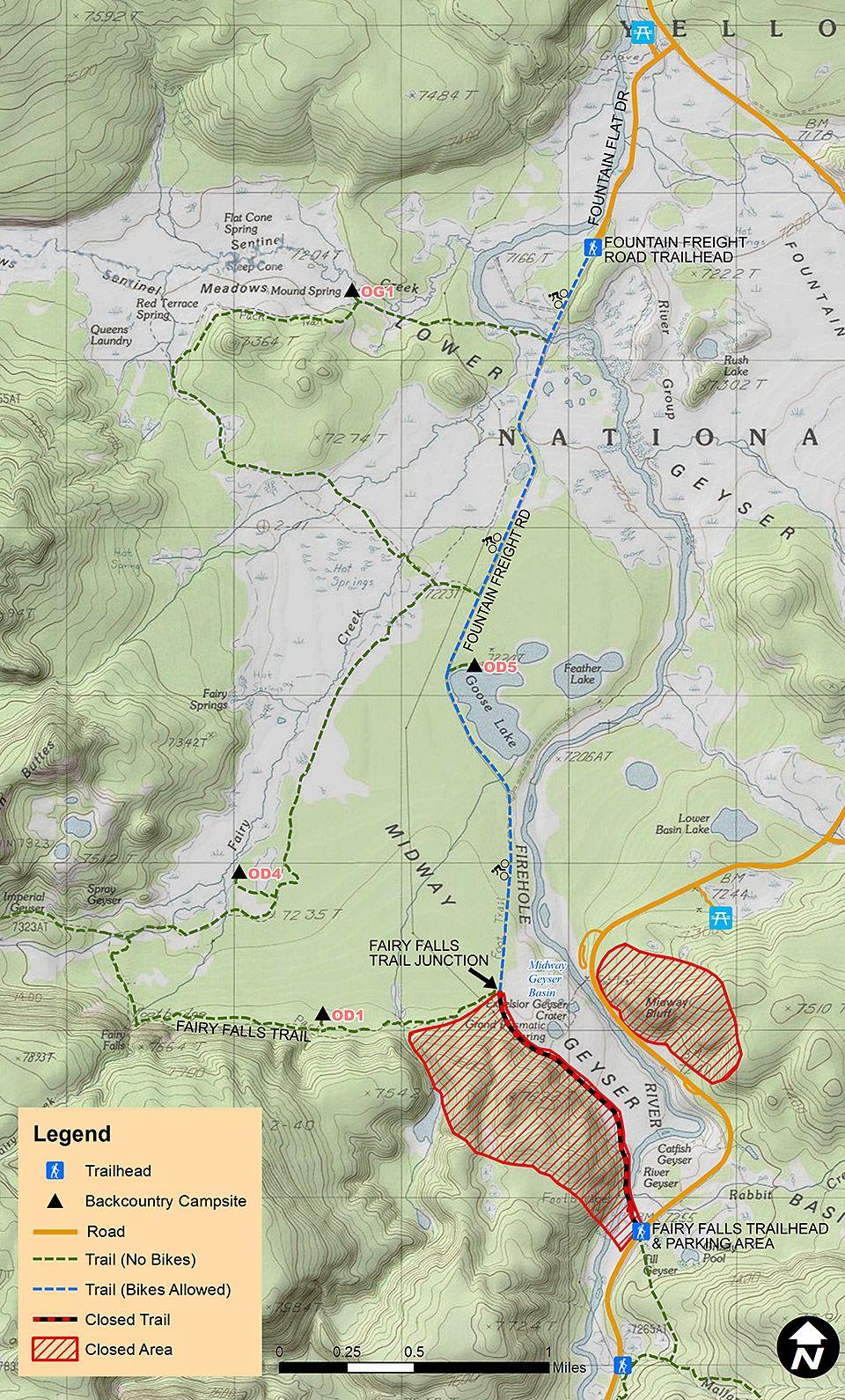 Area Closure Near Grand Prismatic Spring Yellowstone