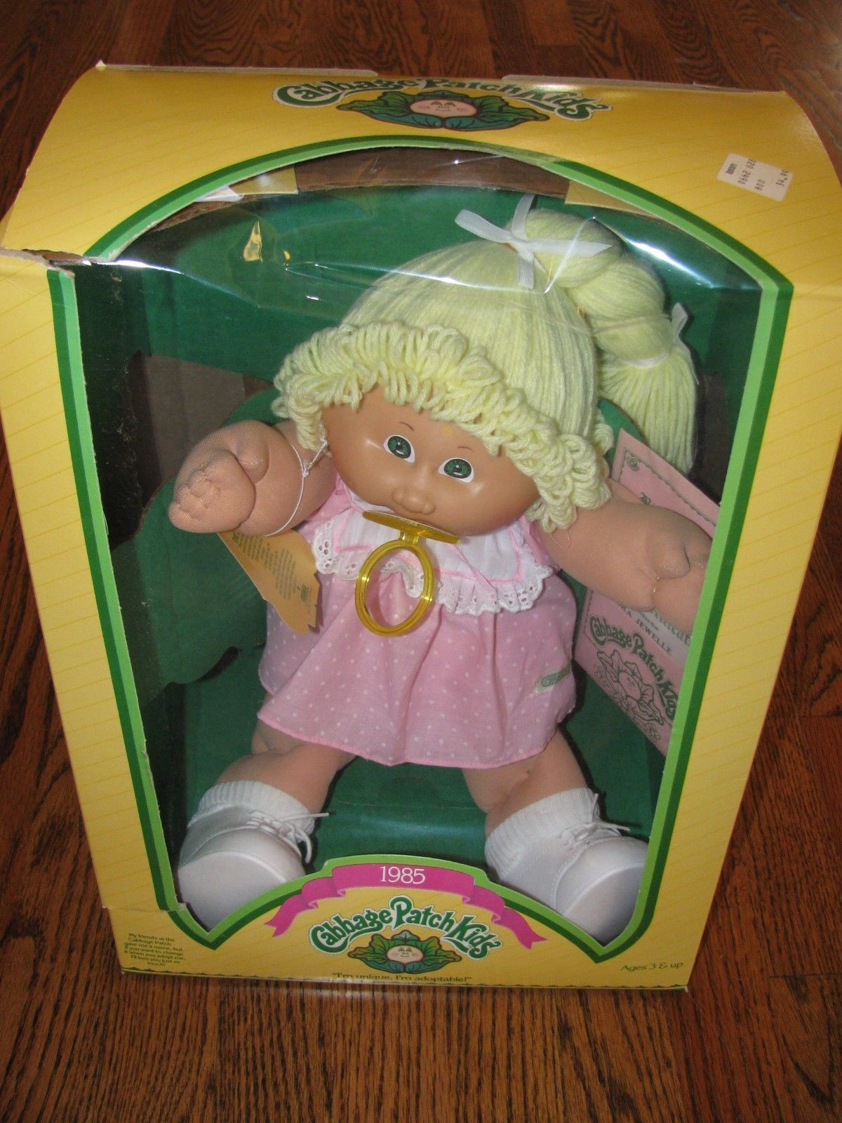 Cabbage Patch Kids Girl Doll Cpk Red Hair Blue Eyes Pacifier Outfit Clothes Ebay Cabbage Patch Dolls Cabbage Patch Kids Cabbage Patch Babies