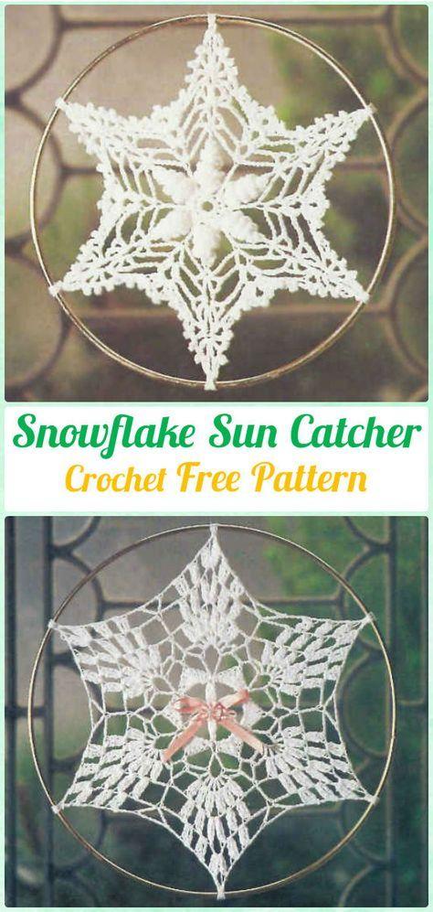 Crochet Snowflake DreamCatche r Free Patterns - #Crochet Dream ...