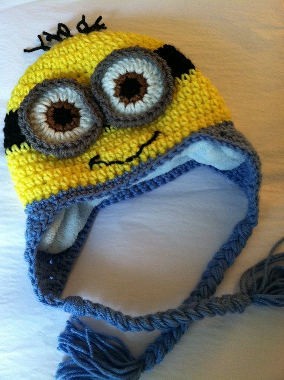 Lakeview Cottage Kids Minion Earflap Hat Free Pattern For