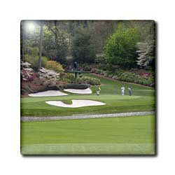 Augustas Amen Corner Golf Course - Where dreams are made and lost - 12 Inch Glass Tile by Angel Wings Designs, http://www.amazon.com/dp/B00816JEW0/ref=cm_sw_r_pi_dp_fdMUrb1XHCCF1