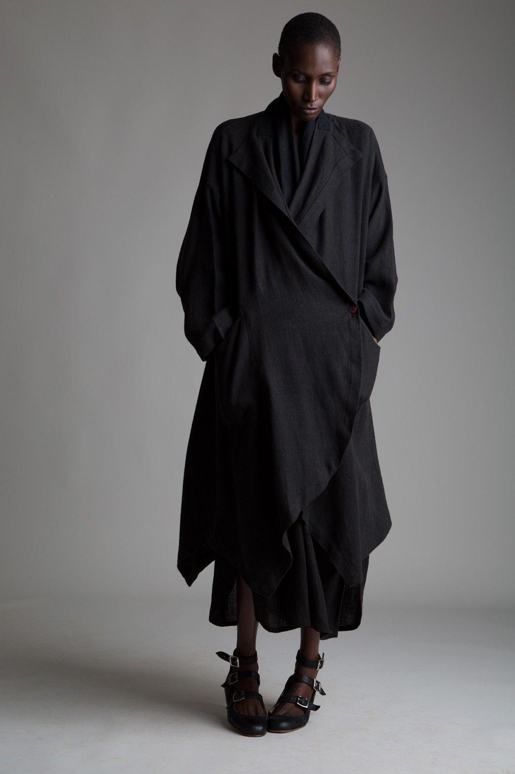 vintage issey miyake linen coat designer vintage clothing