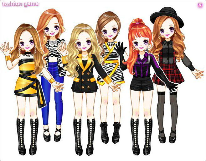 Daum Idols Dress Up Games Anime Style Fashion Sketches Up Game