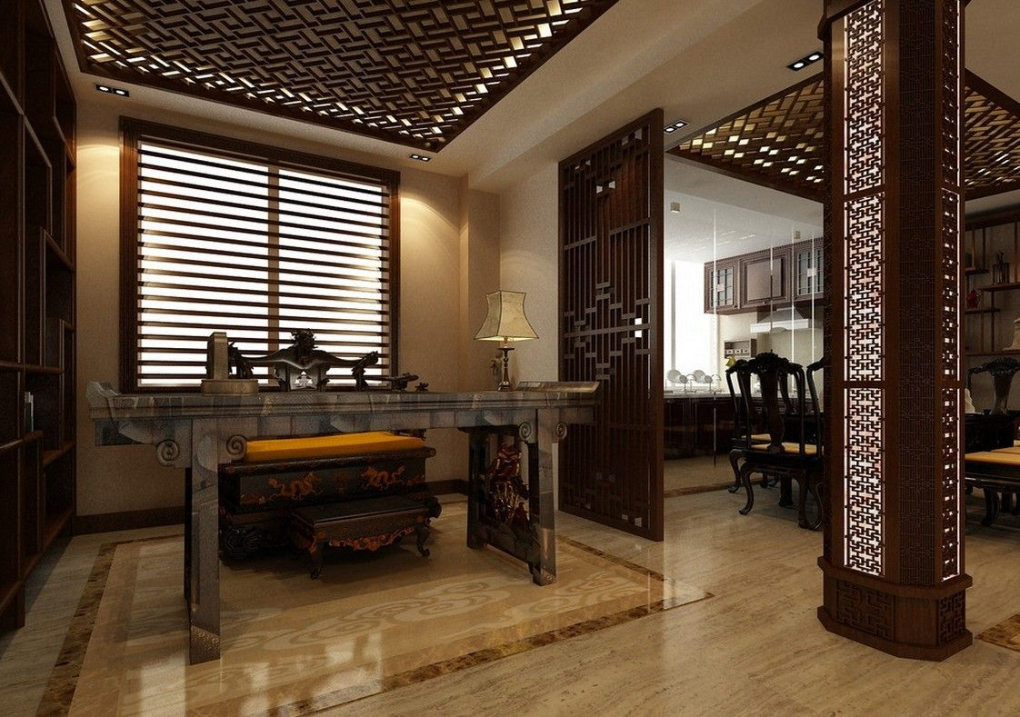 Asian House Decor Chinese House Interiors Style Banquet Hall Chinese Style
