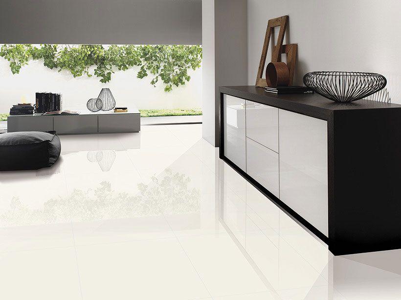 pure white new Polished Porcelain | White porcelain tile, Living ...