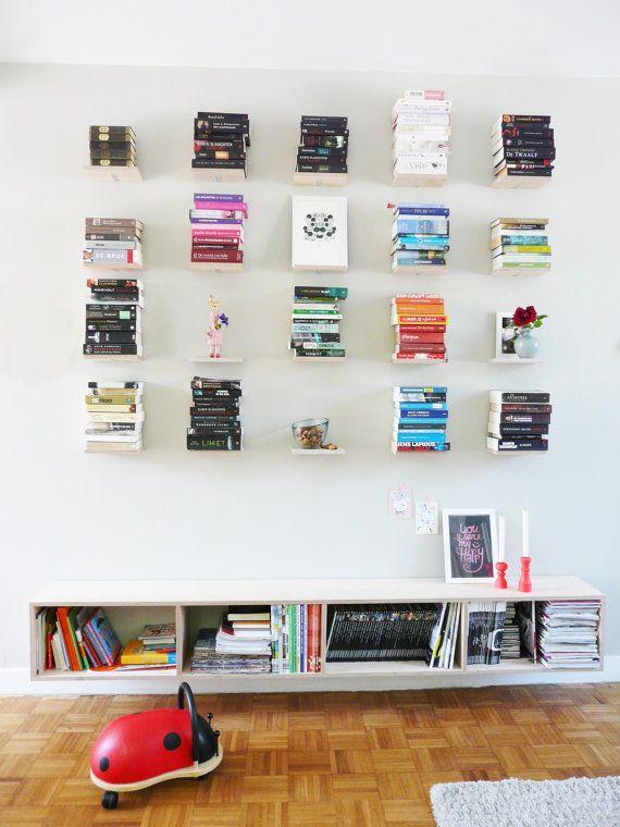 12 Bookshelfs floating por VeraJonkers en Etsy Home Pinterest