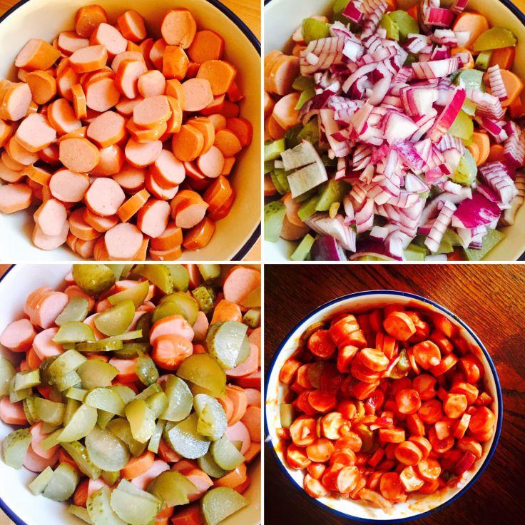 Würstchensalat – geht immer! – Elly´s Do it yourself
