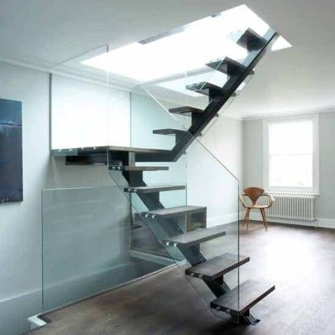 Escaleras modernas para interiores escaleras pinterest for Escaleras modernas