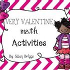 In this packet you will find 6 awesome math activities for your kinder babies!  Valentine Measurement {kiddos will use a candy cane measuring strip...