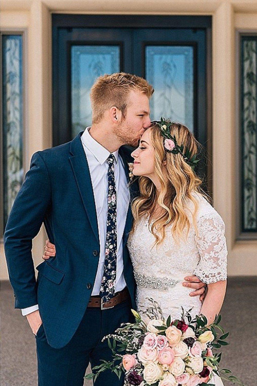 Best dress to wear to a garden wedding  Hannah and Jordan   The Dress u Veil  Pinterest  Payson temple