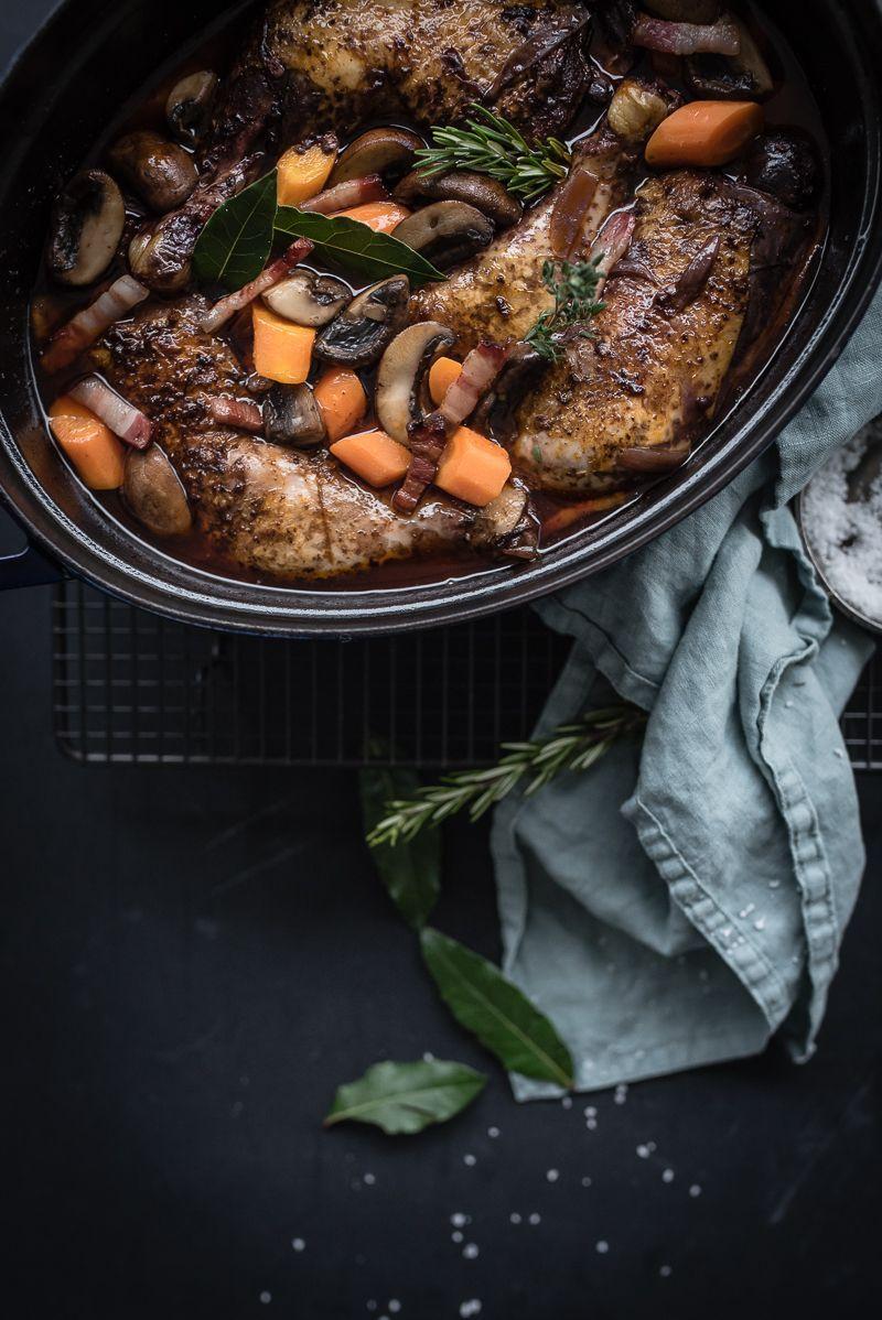 Coq au vin - das klassische Rezept in der Ruck-Zuck-Variante #dietmenu