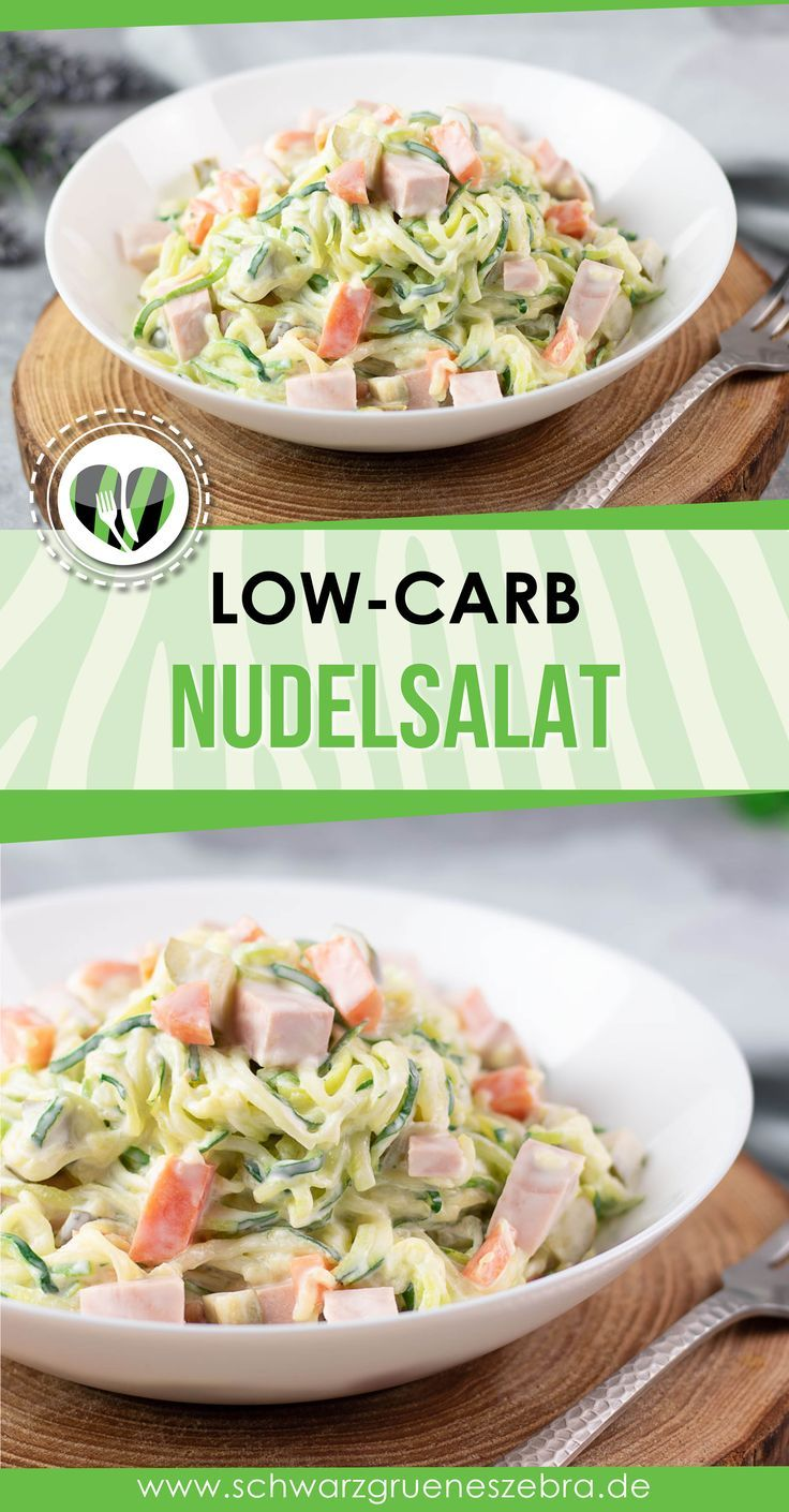 Nudelsalat aus Zoodeln - Eine leckere Low Carb Alternative!