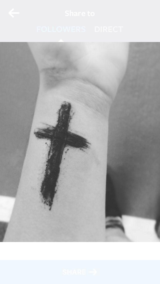 Wrist Tattoo Cross Men Black Tattoo Ideas Pinterest Tattoos