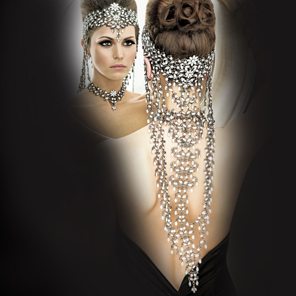 Indian Wedding Headdress: Parisian Couture Headpiece