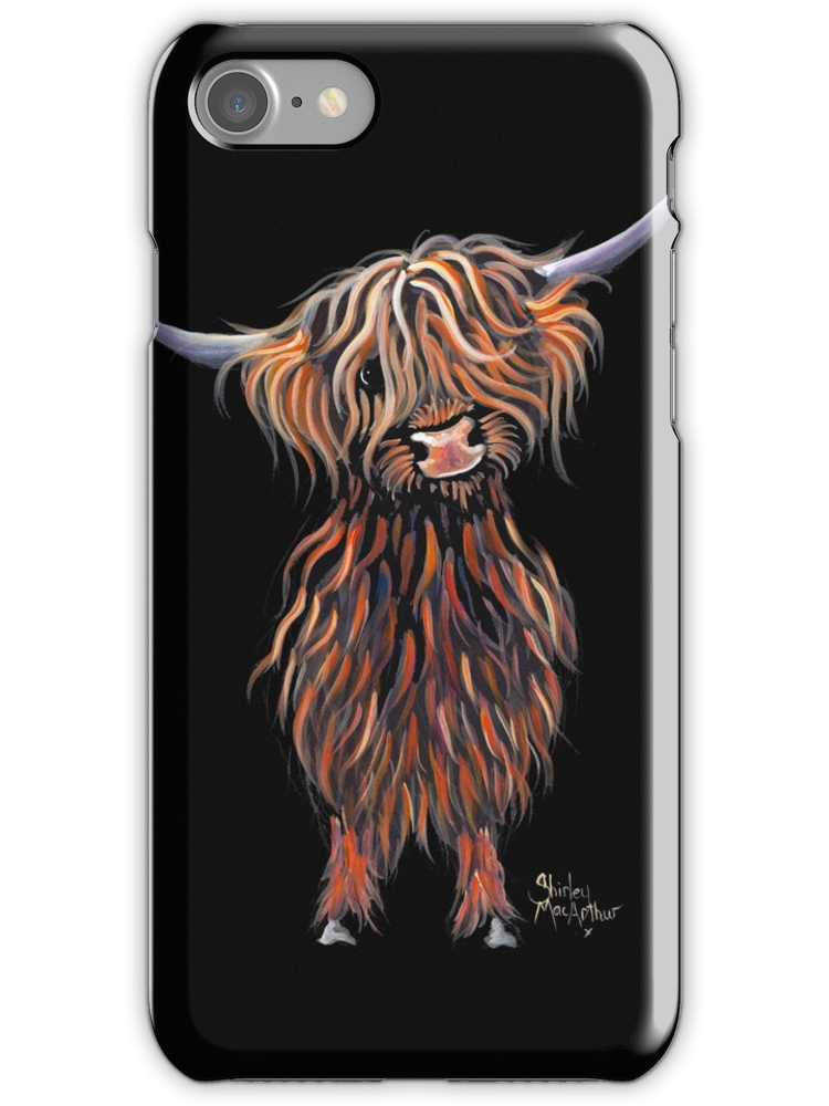highland cow iphone 8 case