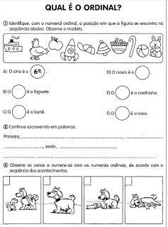 Atividades Com Numerais Ordinais Cantinho Do Educador Infantil
